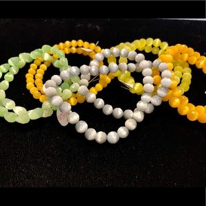 Cateye faceted beads drops pastels jewelry making